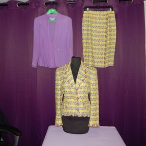 Vintage Carlisle Silk Blend Skirt Suit